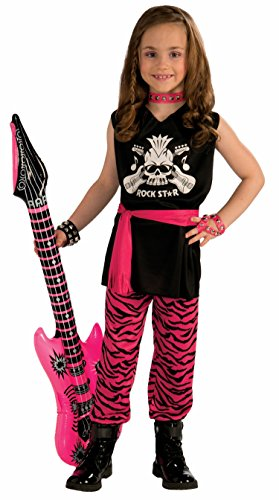 Forum Novelties Rock Star Girl Child Costume, Medium (80s Punk Rock Halloween Costumes)
