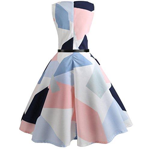 7714dfb2a7f ... 50er Abendkleid Prom Kleid Swing Weiß Cocktailkleider Vintage Blumen  Mcys Rockabilly Kleider Ärmellos Bodycon C Partykleider ...