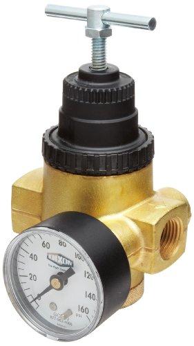 Dixon R43-406RG Norgren Series T-Handle Water Regulator with Gauge, 10 SCFM, 1/2'' Port Size, 5-125 PSI by Dixon Valve & Coupling