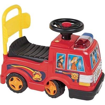 Wonders Beyond Foot to Floor Walking Pushing Cart Fire Engine Car: Toys & Games