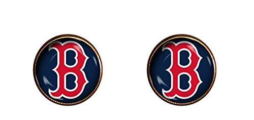 Red Sox 10mm earrings handmade jewelry gift pendant charm