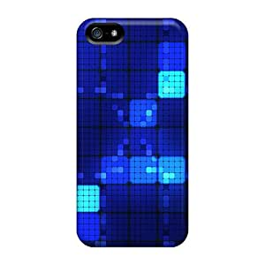 Iphone 5/5s Cover Case - Eco-friendly Packaging(blue Squares)