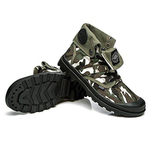 Hombres zapatos vestido escalar montañas otoño aire libre zapatos de lona botas resbalón encendido negro-marrón-B Longitud del pie=39EU