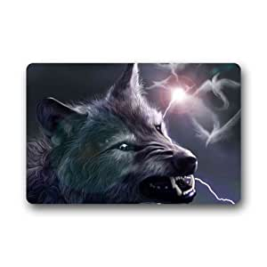 Art Wolfs Indoor / Outdoor Doormat Door Mat Rubber Doormats 23.6 x 15.7 Inch