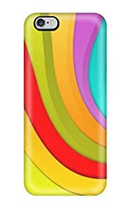 Durable Case For The Iphone 6 Plus- Eco-friendly Retail Packaging(happy Wavy Colors )