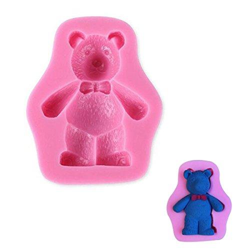 WJSYSHOP Bear Shape Silicone Fondant Mold Decorating Cake Baking Mould – Bear