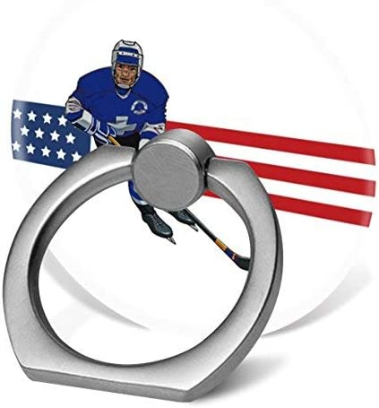 360 Degree Rotation Socket Patriotic Hockey Design Cell Phone Pop Grip Stand Works for All Smartphone and Tablets
