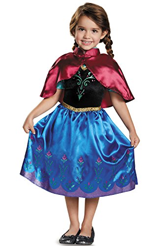 Disguise Anna Traveling Toddler Classic Costume, Small (2T) (Frozen Toddler Costume)