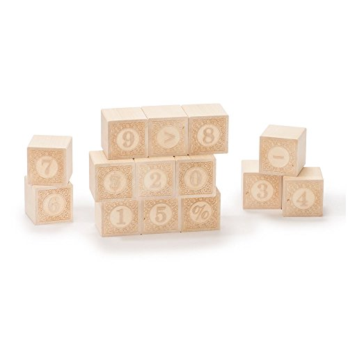 Uncle Goose Alphablanks Numbers Blocks - Made in (Wood Baby Blocks)