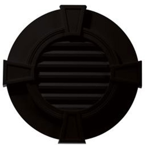 "30""W x 30""H Round Gable Vent Louver with Keystones, 50 Sq. Inch Vent Area, 008 - Clay"