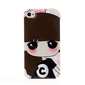ZCL Lovely girl series TPU Soft Back Cover Case for iphone 4/4S(Pattern C)