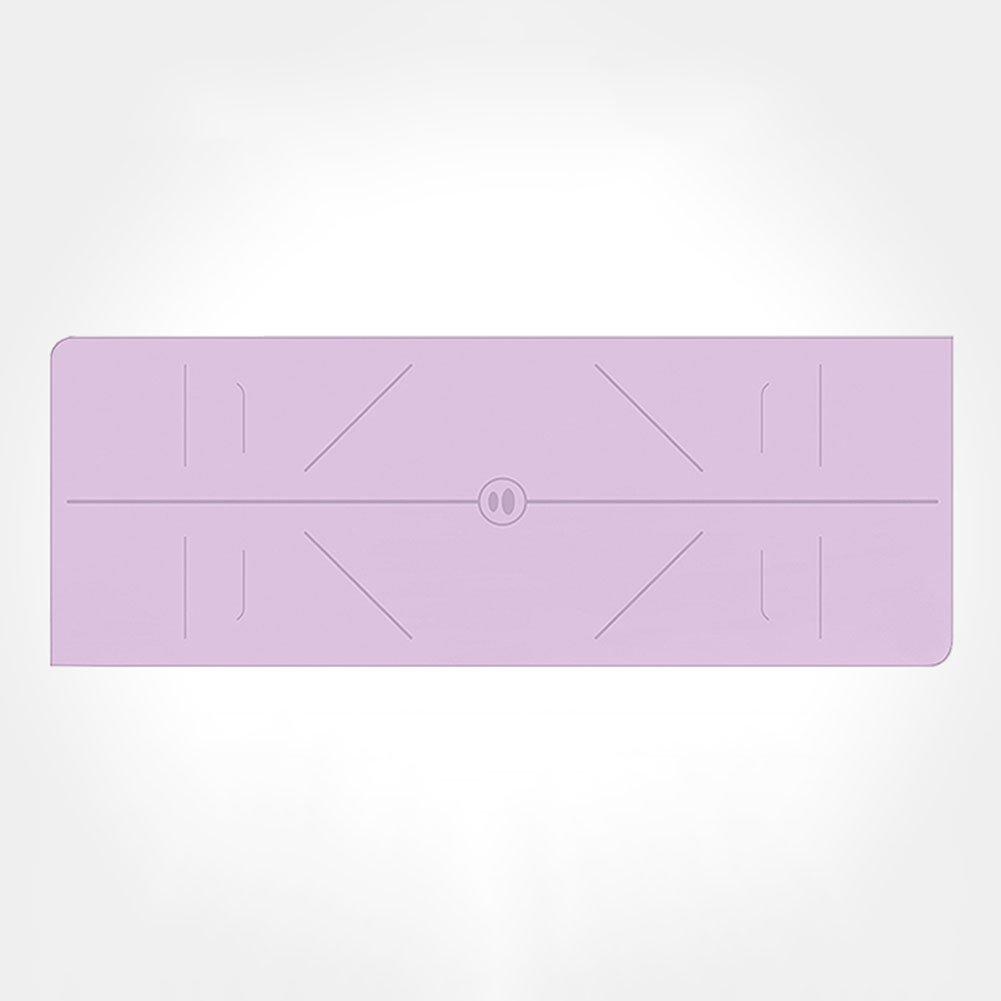 QIDI Yogamatte Reine Farbe Rutschfest Atmungsaktiv Fitness Aerobic-Matte 185  68  0,5cm (Farbe   T-3)