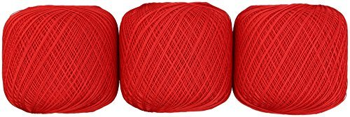 Lace thread GOLD SPECIAL # 40 Col. 700 Red system 50 g 445 m 3 ball set by Olempus made cord