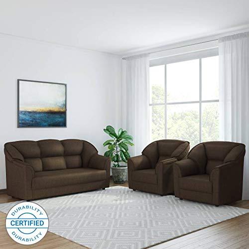 Westido Manhattan 3 + 1 + 1 Fabric Sofa Set  Brown