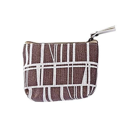 giveyoulucky Women Girls Coin Purse,Mini Style Cotton Linen Clutch Purse Credit Card Coin Holder 5#