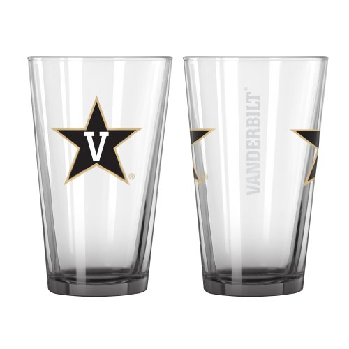 Price comparison product image NCAA Vanderbilt Commodores Elite Pint Glass, 16-ounce, 2-Pack