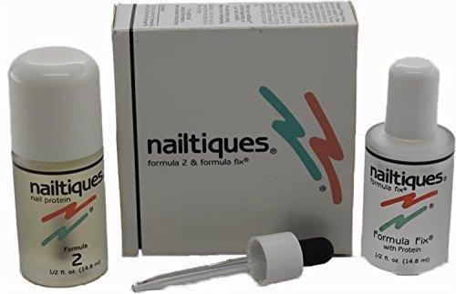 Nailtique Protein Formula #2 and Formula Fix, 1/2 Ounce Each (Nailtiques Fix Formula)