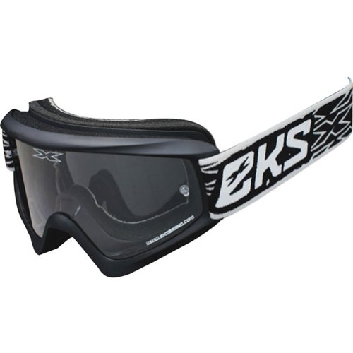 EKS Brand GOX Flat Out Adult Dirt Bike Motorcycle Goggles Eyewear - Matte Black / One Size Fits All