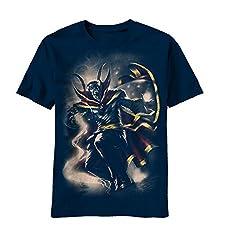 Marvel Men's Doc Mythos Short Sleeve T-Shirt, Navy, Small