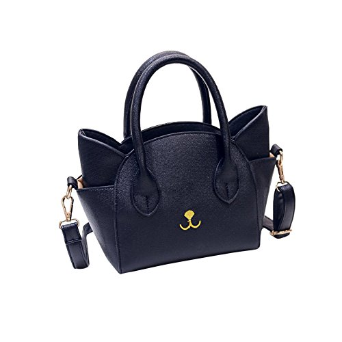 Shoulder Bag,Robemon Handbag Crossbody Messenger Satchel Fashion Casual Womens Cat Face Totes Black