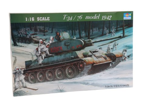 - Trumpeter 1/16 Russian T34/76 Mod 1942 Tank
