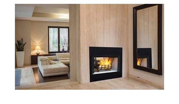 Amazon Com 36 Radiant See Thru Wood Burning Fireplace W White