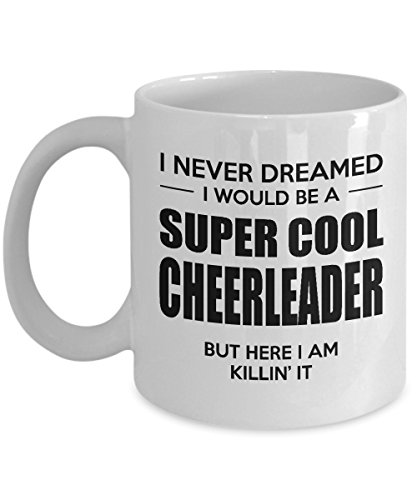 Cheerleader Coffee Mug - Gifts for Cheerleaders - Funny Present for Birthday or Valentines Day for Men, Women, Dad, Mom, Him, Her - 11 oz Ceramic White