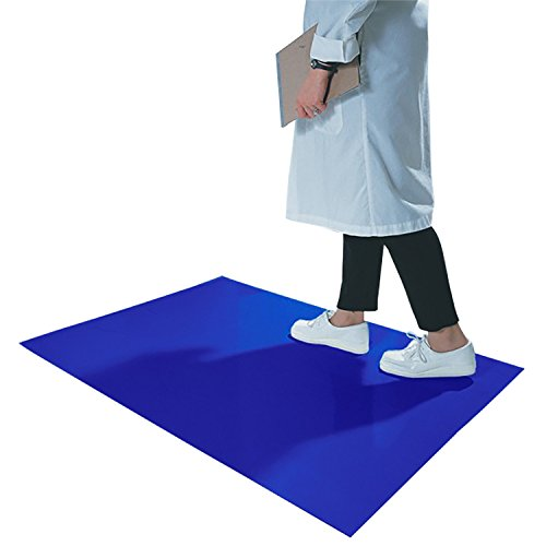 CleanPro Blue Adhesive Sticky/Tacky Mats, 24'' x 36'' (Case of 4, 30 Sheets/Mat) by CLEANPRO