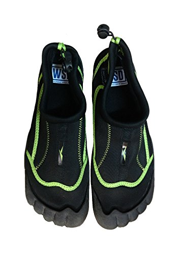 WSD Mens Waterproof Shoes for Yoga, Exercise, Water, Beach, Diving (10 D(M) US, Black)