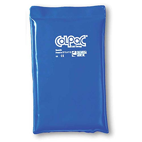 (ColPac 00-1506 Reusable Half Size Blue Vinyl Cold Pack, Remain Pliable and Soft, 7