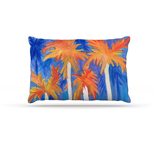 Kess InHouse Rosie Brown Florida Autumn  Fleece Dog Bed, 50 by 60 , bluee orange