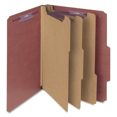 (3 Pack Value Bundle) SMD14092 Pressboard Classification Folders, Self Tab, Letter, Eight-Section, Red, 10/Box by Unknown