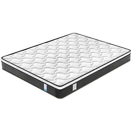 King Mattress, Inofia Sleeping Top Hybrid Individual Coil Pocket Spring Mattress 9''- Dual-Layer-Medium Firm-100-Night-Trial