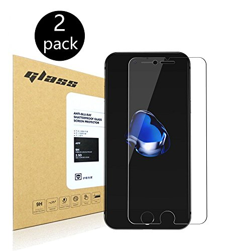 2-Pack-iPhone-7-47-Screen-Protector-HoPerain-025mmTempered-Glass-9H-Hardness-Anti-Scratch-Anti-Fingerprint-Bubble-Free-Ultra-clearApple-iPhone-7