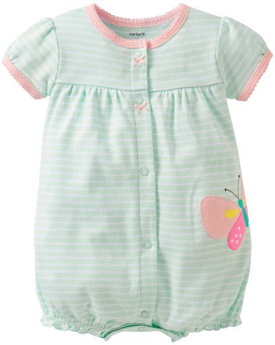 Carter's Baby Girls' Striped Creeper (Baby)