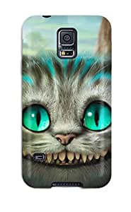 Premium Protection Cheshire Cat - Alice In Wonderland Case Cover For Galaxy S5- Retail Packaging