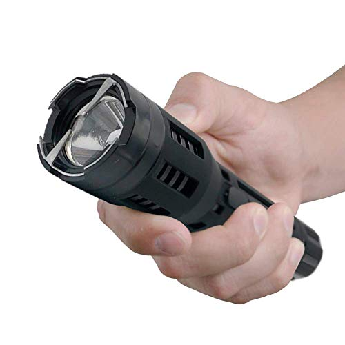 Monster EconoForce Powerful Stun Gun Defense Flashlight with Holster, Maximum Voltage, 3 Light Functions, Rechargeable, Black
