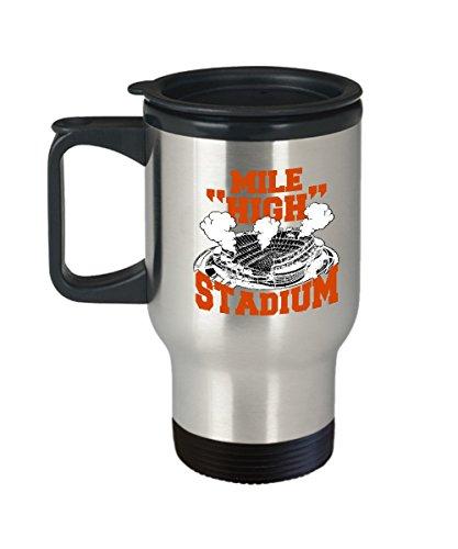 Stadium Mug - Mile High stadium - Travel Mug Travel Coffee Mugs Tea Cups 14 OZ Gift Ideas