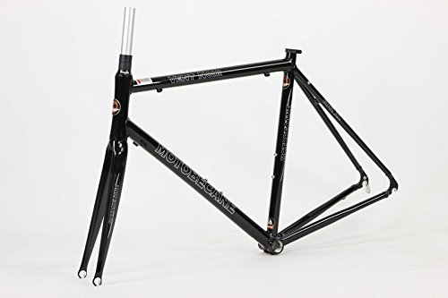 Motobecane Vent Noir Kinesis Aluminum Road Bike Frame with Carbon Fork and Headset (Black, 58cm - 6'0