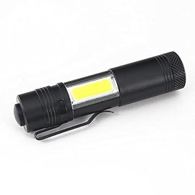 1 Set 2000 Lumens XPE COB Q5 LED Flashlights 4 Modes 10W Mini Penlight Flashlight Radiant Fashionable Ultra Xtreme Tactical Military Bright Light Waterproof Outdoor Hunting Fishing Camping Lights