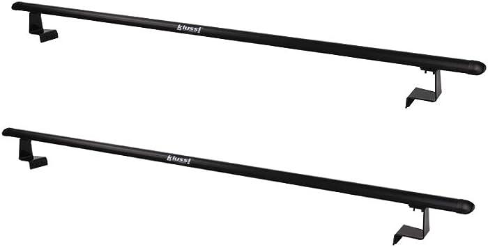 Kiussi - Estante de escalera para camioneta o camioneta con cubierta de tonneau suave enrollable o retráctil, no afecta el cierre y la apertura de dos barras de aluminio cruzadas de longitud