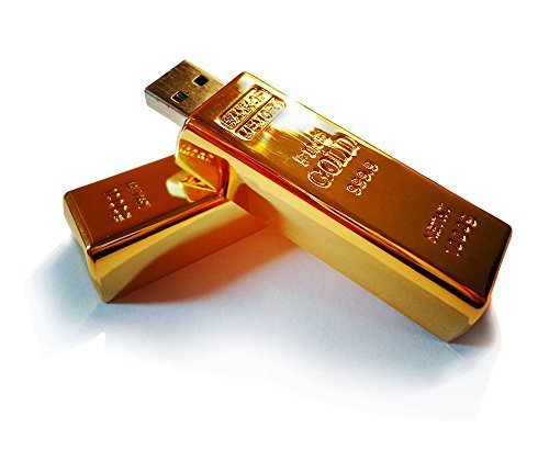 Luxury Gift Gold Bar 2.0 USB Flash Drive 32 GB (Pack of 3) from Generic