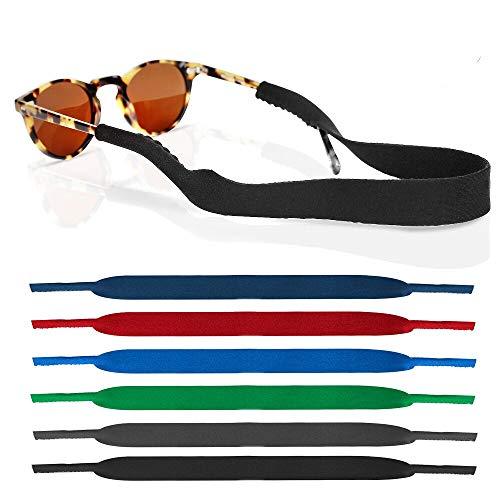 6 Pack Neoprene Glasses and Sunglasses Strap, Anti Slip Sport Eyewear Retainer Holder Strap - 6 ()