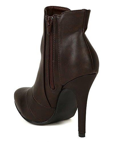 Nature Heel BD84 Bootie Stiletto Ankle Almond Toe Chelsea Brown Breeze WqrwcqYU6