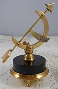 Beautiful Solid Brass Office Desk Top Sundial