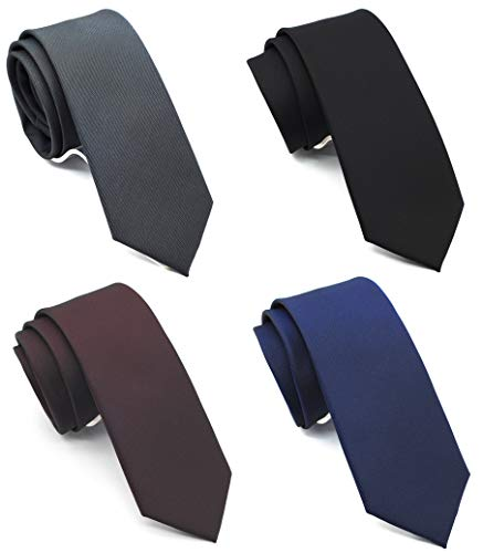 (Skinny Neckties Solid Matte Color Slim Neck Tie 2(1/2)