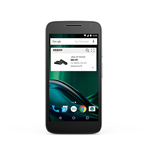 Moto G Play (4th gen.) - Black - 16 GB - Unlocked - Prime Exclusive - with Lockscreen Offers & Ads