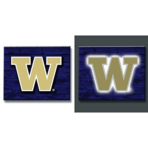 Team Sports America University of Washington Huskies LED Metal Wall ()