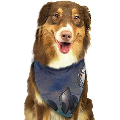 Dog Bandana Triangle Scarfs Puppy Bibs Accessories, Radar Station, for Dogs, Cats, Pet Birthday Party Gifts Supplies