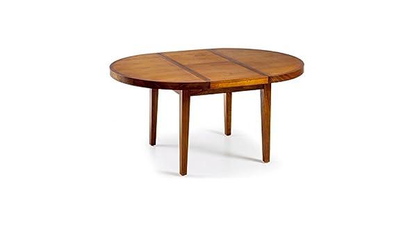 Moycor - Mesa redonda star 120 con madera, tamaño 120-170 x 78 ...